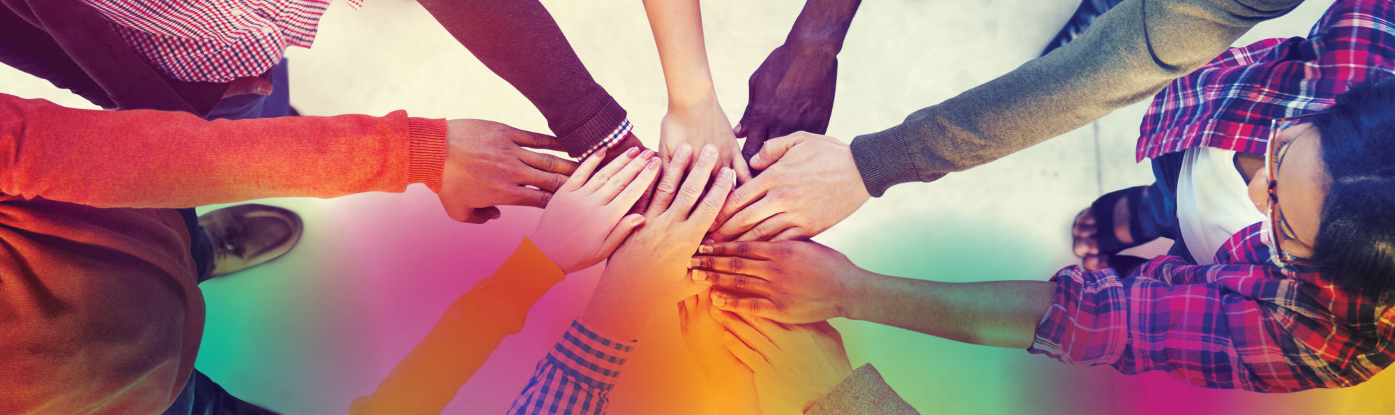 Team hands in a circle