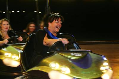 Swanstaff Recruitment employee on bumper cars