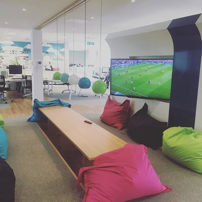 Swanstaff Recruitment head office beanbag area