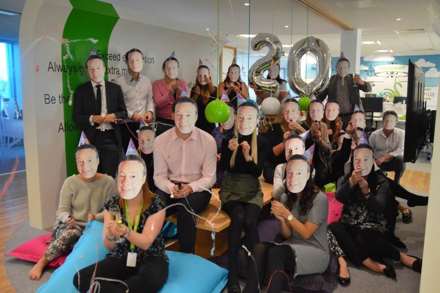 Swanstaff Recruitment throw a company-wide party to celebrate the company turning 20