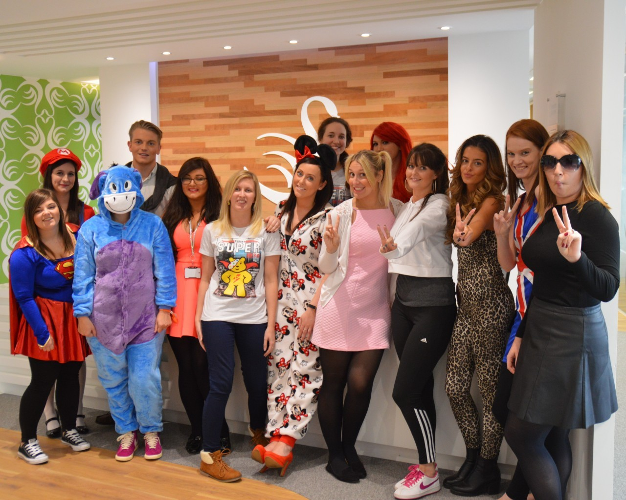 Swanstaff Recruitment dress up as their childhood heros for children in need