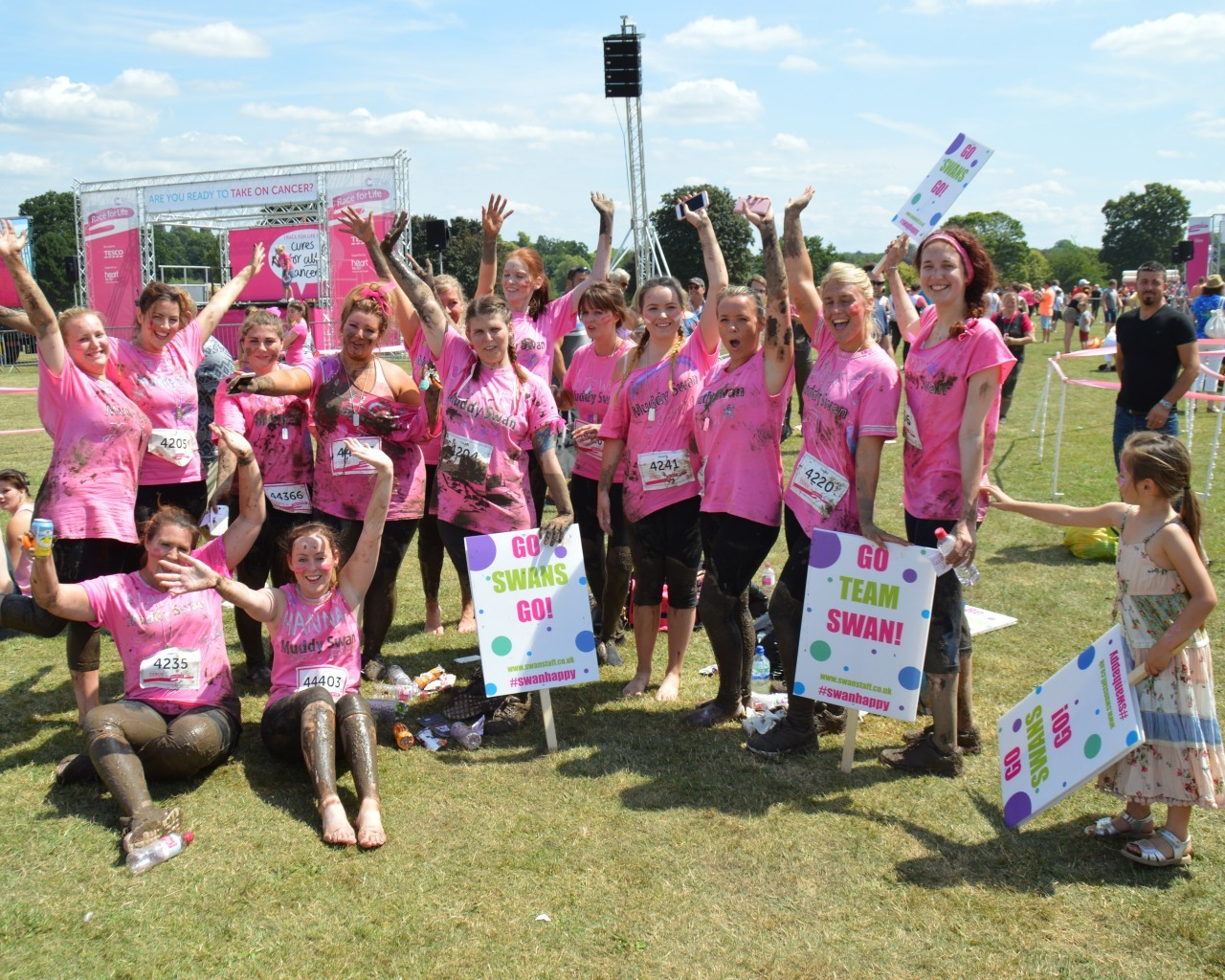 Swanstaff Recruitment take part in the Pretty Muddy race raising £2000 for Cancer Research