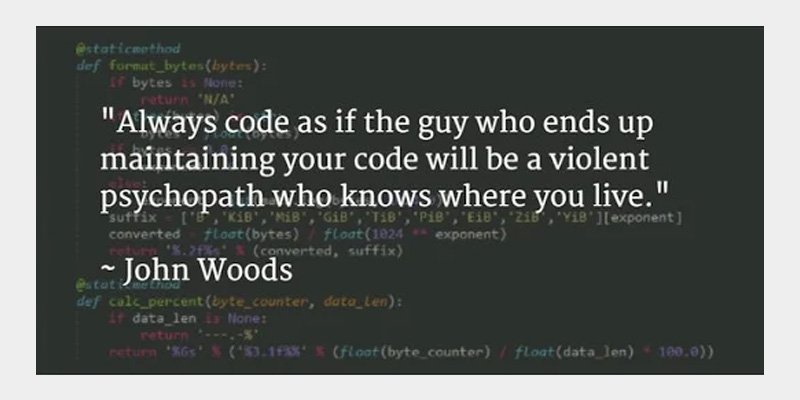Clean coding quote