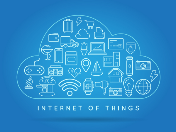 IoT icons in a cloud