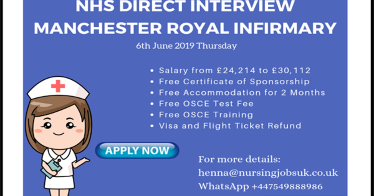 NHS DIRECT INTERVIEW - MANCHESTER ROYAL INFIRMARY - Nursing Jobs UK