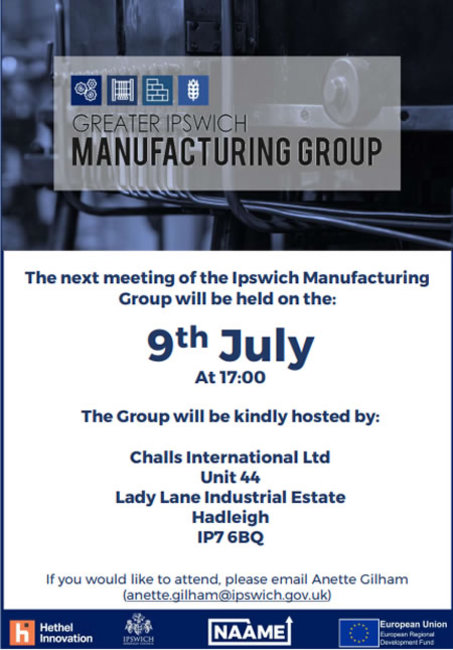 Greater Ipswich Manufacturing Group meeting 9th July 2019