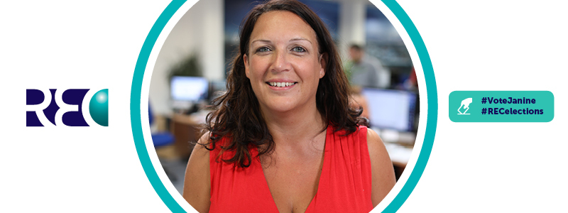 Search News Article Header Image. Featuring Search's Female Marketing & Communications Director, Janine Owen Smiling With The Office In The Background.