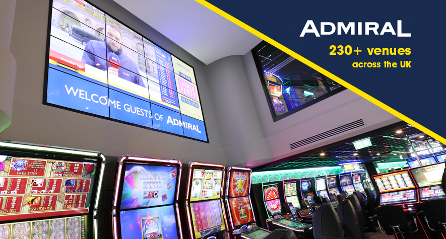 Admiral Casino digital signage