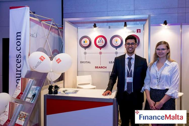 castilleresources conference stand at FinanceMalta