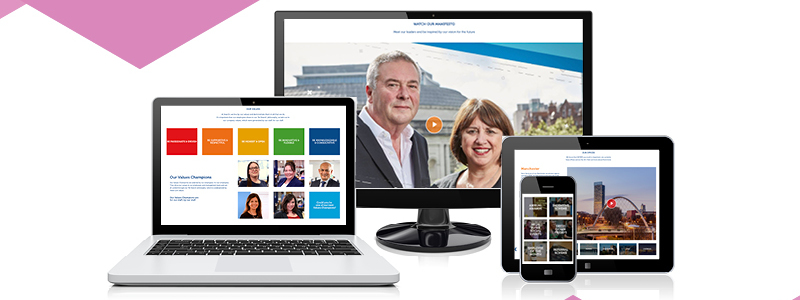 Search careers website on desktop, mobile & tablet