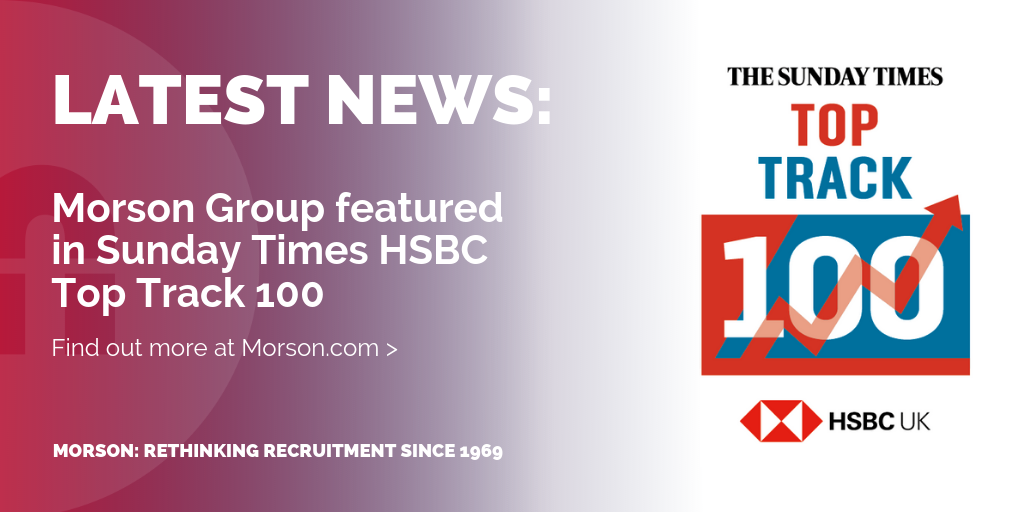 Morson Group Feature In Sunday Times HSBC Top Track 100 List - Morson
