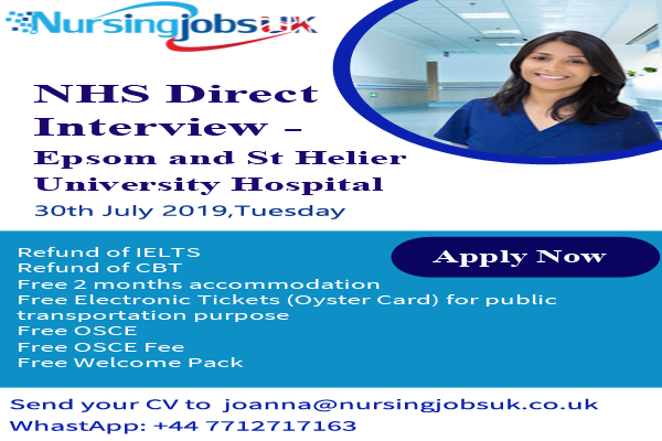 NHS Direct Interview- Epsom and St Helier University