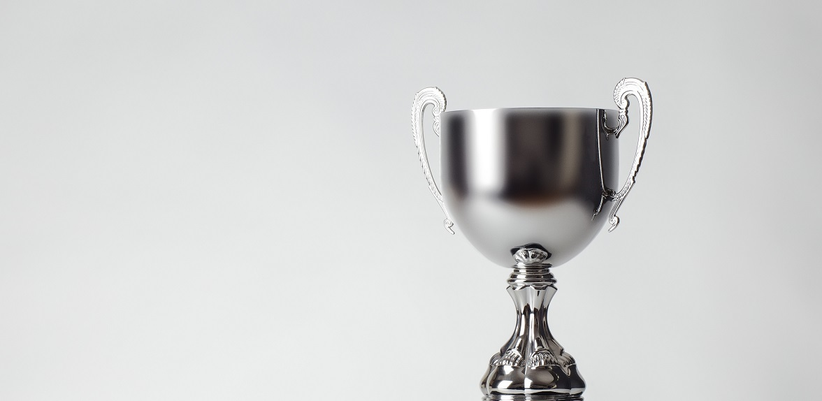 Employee of the Month sliver trophy