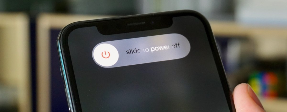 Iphone slide to power off