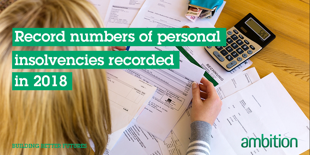 Record numbers of personal insolvencies recorded in 2018
