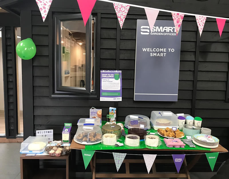Supporting MacMillan Coffee Morning at Smart Garden Offices