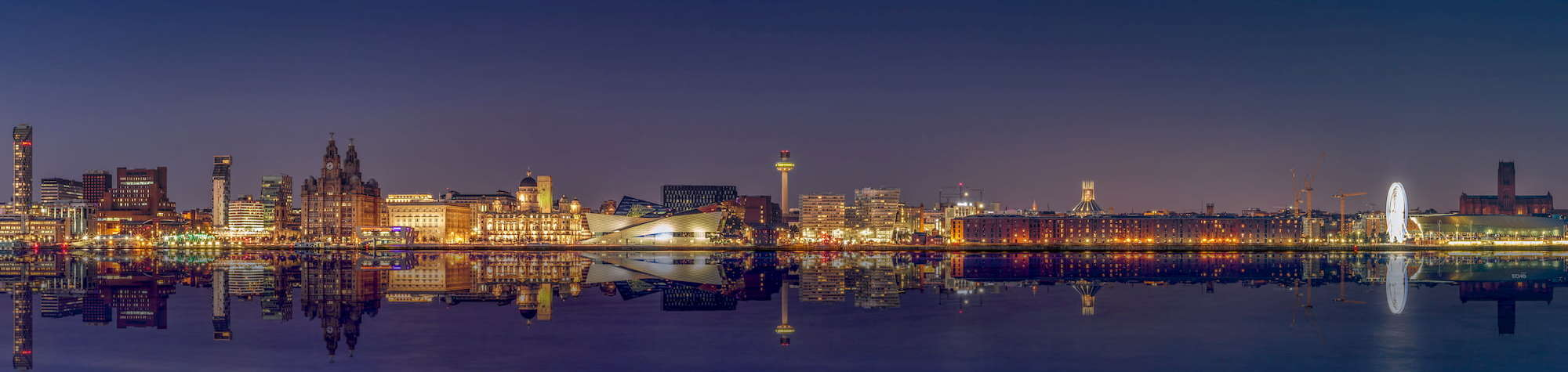 Liverpool Recruitment Agency Header Image. Featuring Liverpool World Heritage Centre and other landmark buildings along the Liverpool Waterfront. Liverpool is home to one of Search Consultancy's exceptional recruitment agencies in England.
