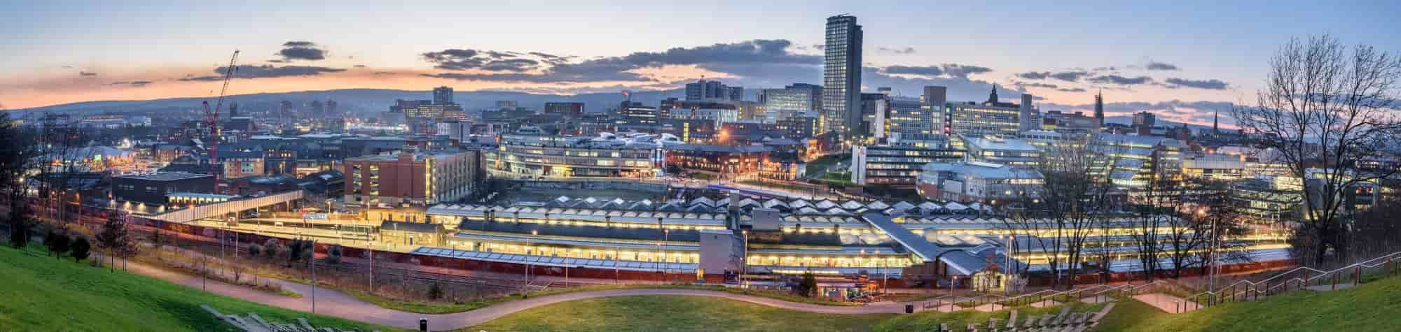 Search Consultancy Jobs in Sheffield Location Header Image Feature Sheffield Skyline.