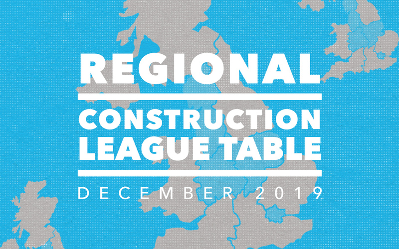 Top 3 Contractors in the North West, East & West Midlands and London: December 2019