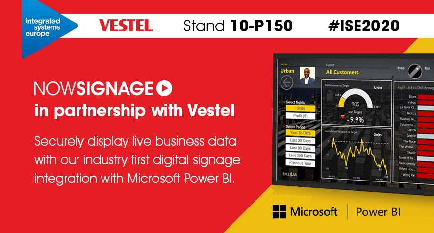 NowSignage and Vestel at ISE