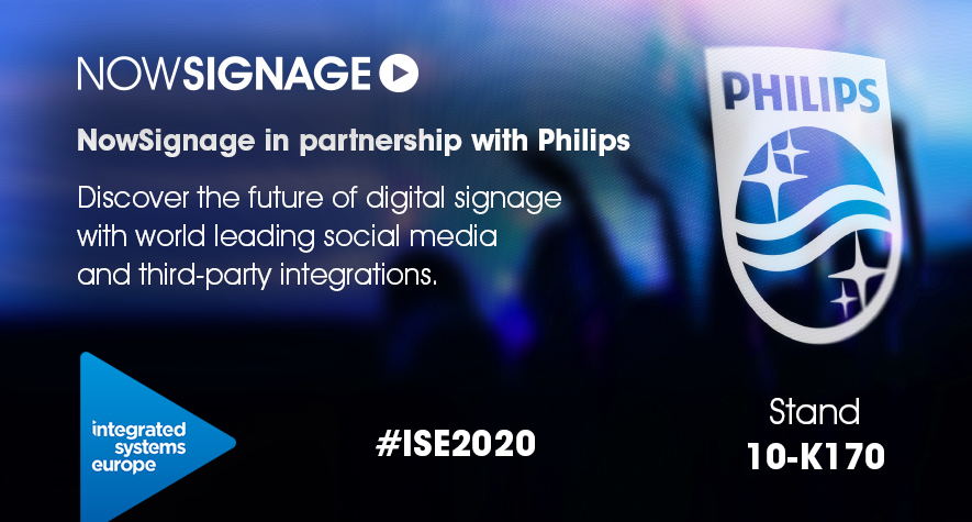 NowSignage and Philips at ISE