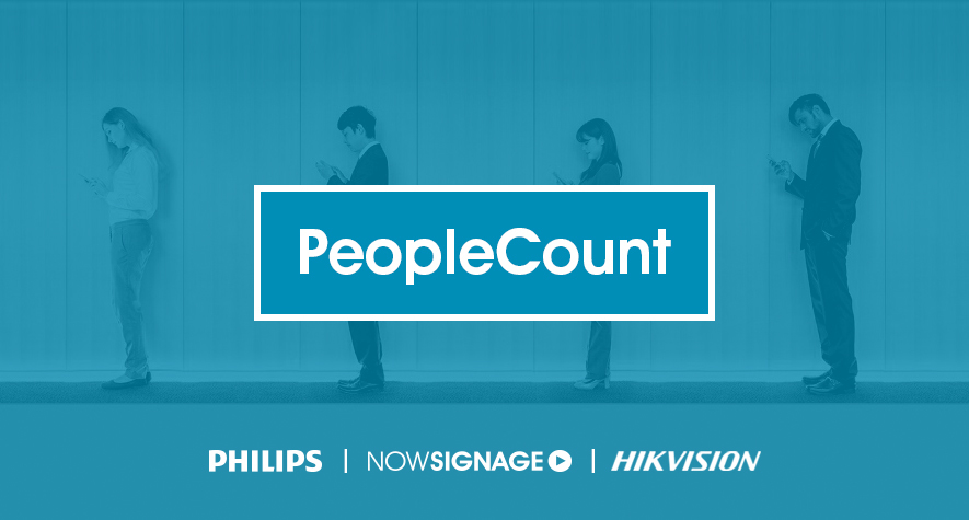 PeopleCount by Philips, NowSignage and Hikvision
