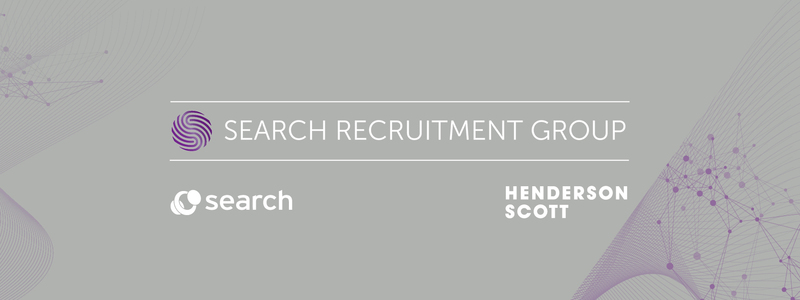 Violet image including the all new Search Recruitment Group, Search Consultancy  and Henderson Scott logos.