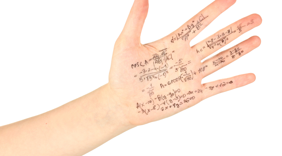 hand with notes