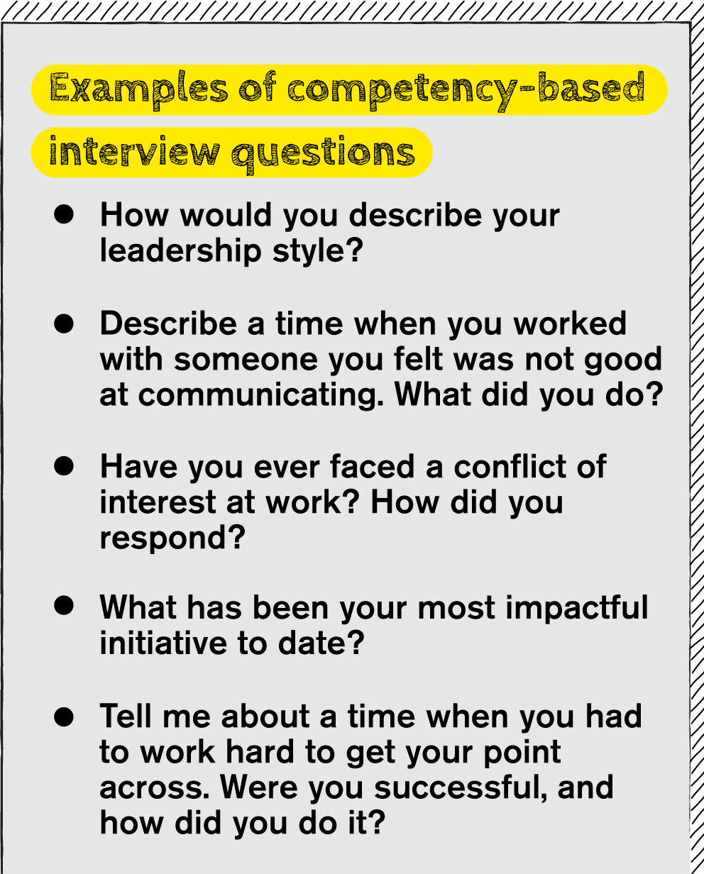 Examples of Competency-Based Interview Questions
