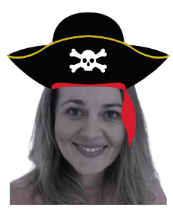 Kate in a captain hat