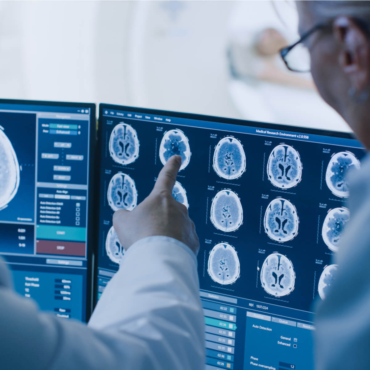 Radiologist reporting CT Scan