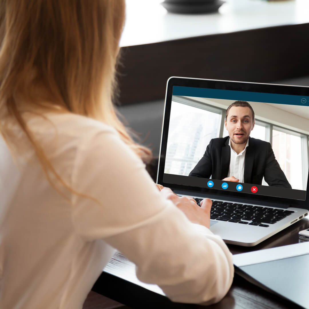 Candidate job interview with skype