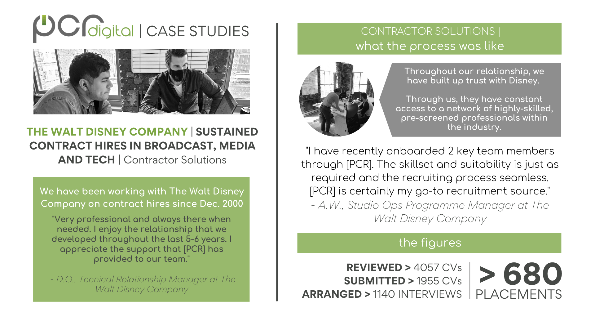 """TESTIMONIAL FROM: THE WALT DISNEY COMPANY 